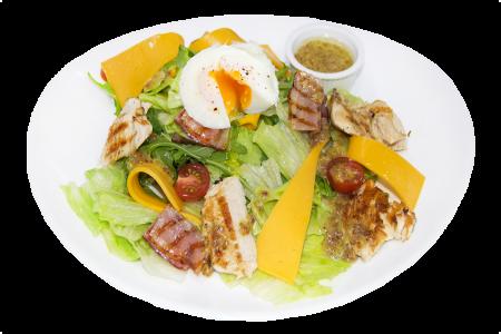 Кобб салат с курицей и беконом