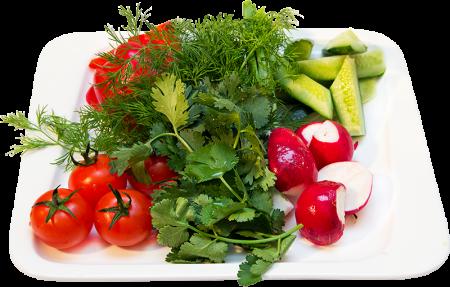 Свежие овощи изелень